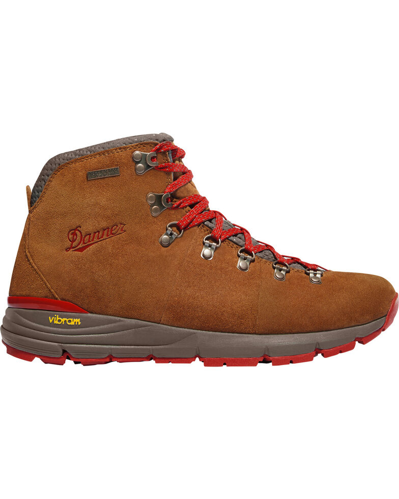 Danner Men's Brown/Red Mountain 600 Hiking Boots, Brown, hi-res