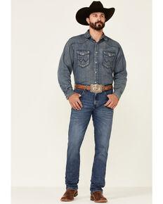 Wrangler Retro Premium Men's Harrick Dark Wash Stretch Slim Straight Jeans , Blue, hi-res