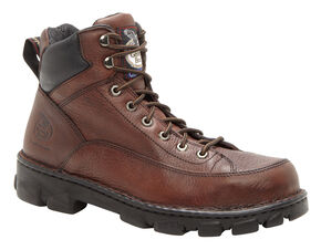 Georgia Eagle Light Wide Load Work Boots - Steel Toe, Dark Brown, hi-res
