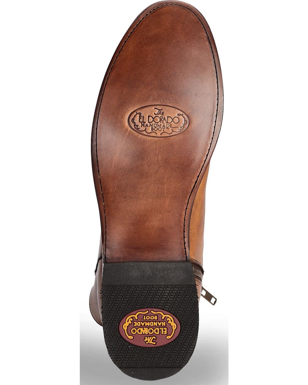 El Dorado Men's Handmade Tan Leather Zipper Urban Roper Boots - Round Toe, Tan, hi-res