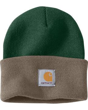 Carhartt Men's Dark Green Acrylic Watch Hat , Dark Green, hi-res