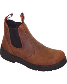"Thorogood Men's Thoro-Flex 6"" Quick Release Work Boots - Composite Toe, Brown, hi-res"
