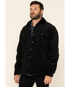 Resistol Men's Black Devin Wale Corduroy Shirt Jacket , Black, hi-res