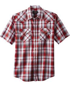 Pendleton Men's Frontier Short Sleeve Shirt , Red, hi-res