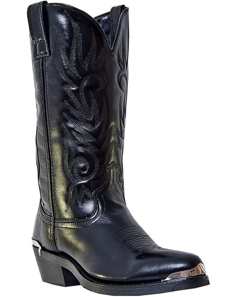 Laredo Men's McComb Cowboy Boots - Medium Toe, Black, hi-res