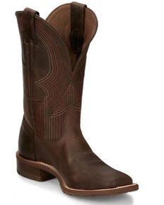Tony Lama Women's Delaney Western Boots - Wide Square Toe, Brown, hi-res