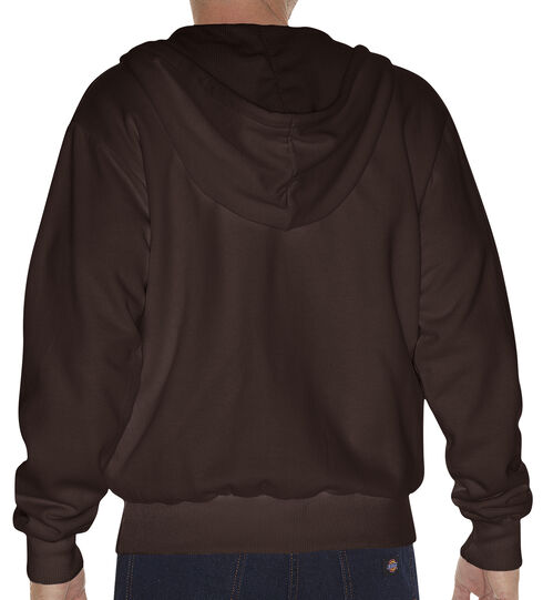 Dickies Midweight Fleece Zip-Up Hooded Work Jacket - Big & Tall, Dark Brown, hi-res