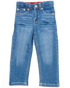 Levi's Toddler Boys' 514 Medium Wash Flex Stretch Straight Leg Jeans  , Blue, hi-res