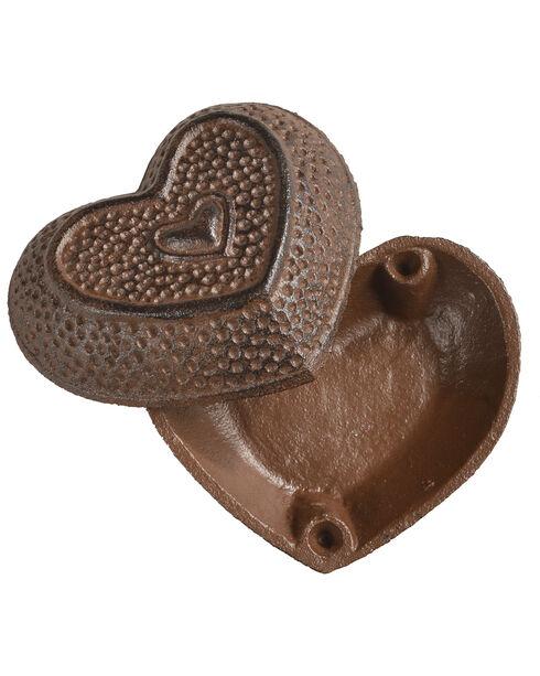 BB Ranch Heart Trinket Box, Brown, hi-res