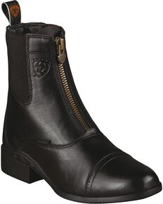 Ariat Heritage Breeze Paddock Riding Boots - Round Toe, Black, hi-res