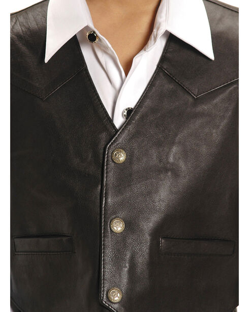 Roper Kids' Lambskin Leather Vest - 7-14, Brown, hi-res