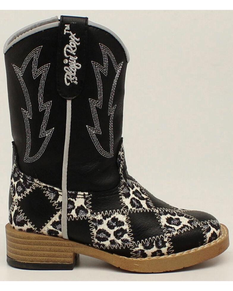 Blazin Roxx Toddler Girls' Zip Miley Patchwork Boots - Square Toe, Black, hi-res