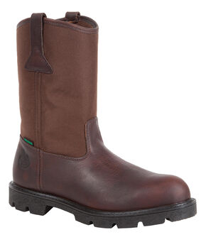 Georgia Homeland Waterproof Wellington Boots - Round Toe, Brown, hi-res