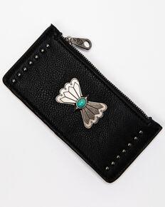 Shyanne Women's Black Credit Card Concho Wallet, Black, hi-res