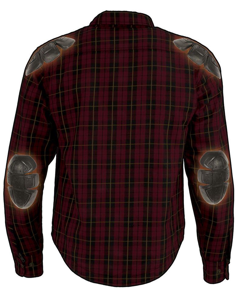 Milwaukee Performance Men's Aramid Reinforced Checkered Flannel Biker Shirt - Big & Tall, Black/red, hi-res