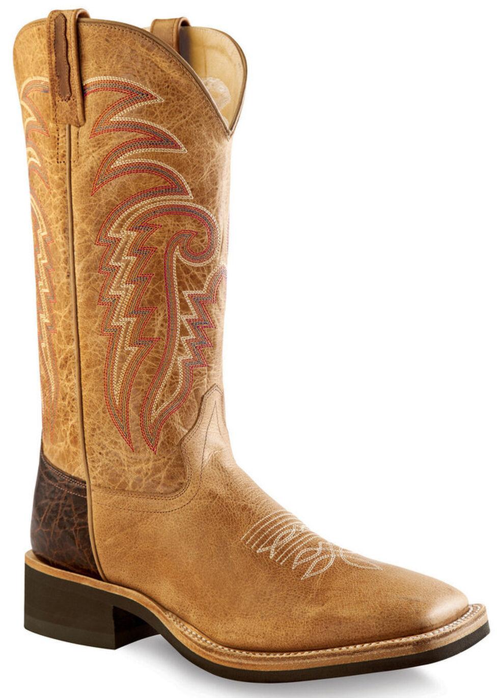 Old West Men's Tan Cowboy Boots - Square Toe , Tan, hi-res