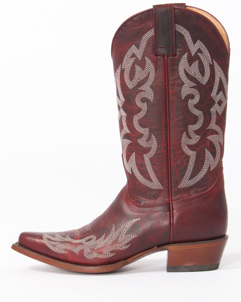 Shyanne Women's Damiano Red Cowgirl Boots - Snip Toe, , hi-res