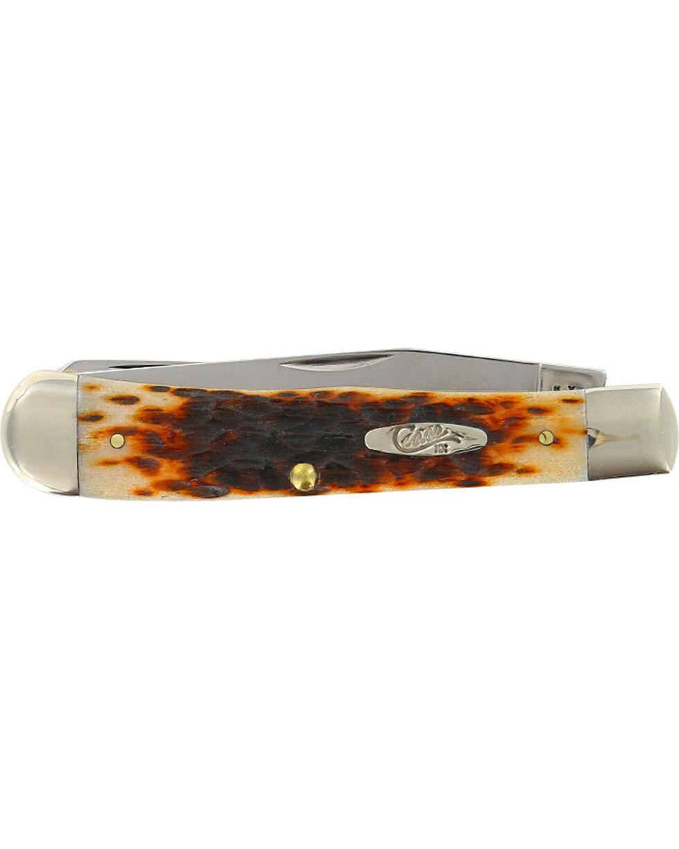 W.R. Case & Sons Amber Bone SS Trapper Pocket Knife, Multi, hi-res