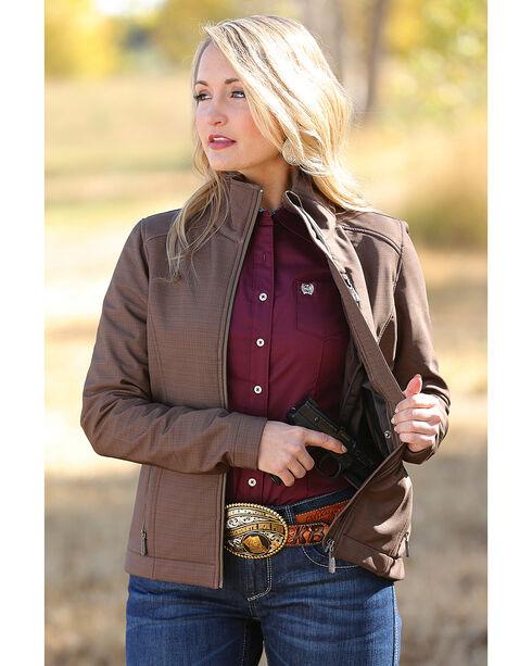 Cinch Women's Brown Bonded Concealed Carry Jacket , Brown, hi-res
