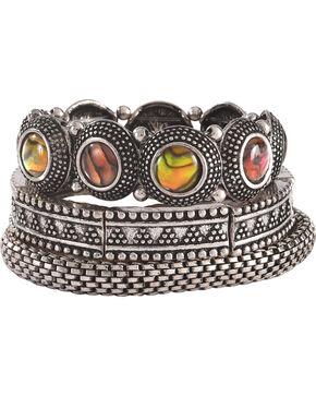 Shyanne Women's Mother of Pearl Bracelet Set, Silver, hi-res