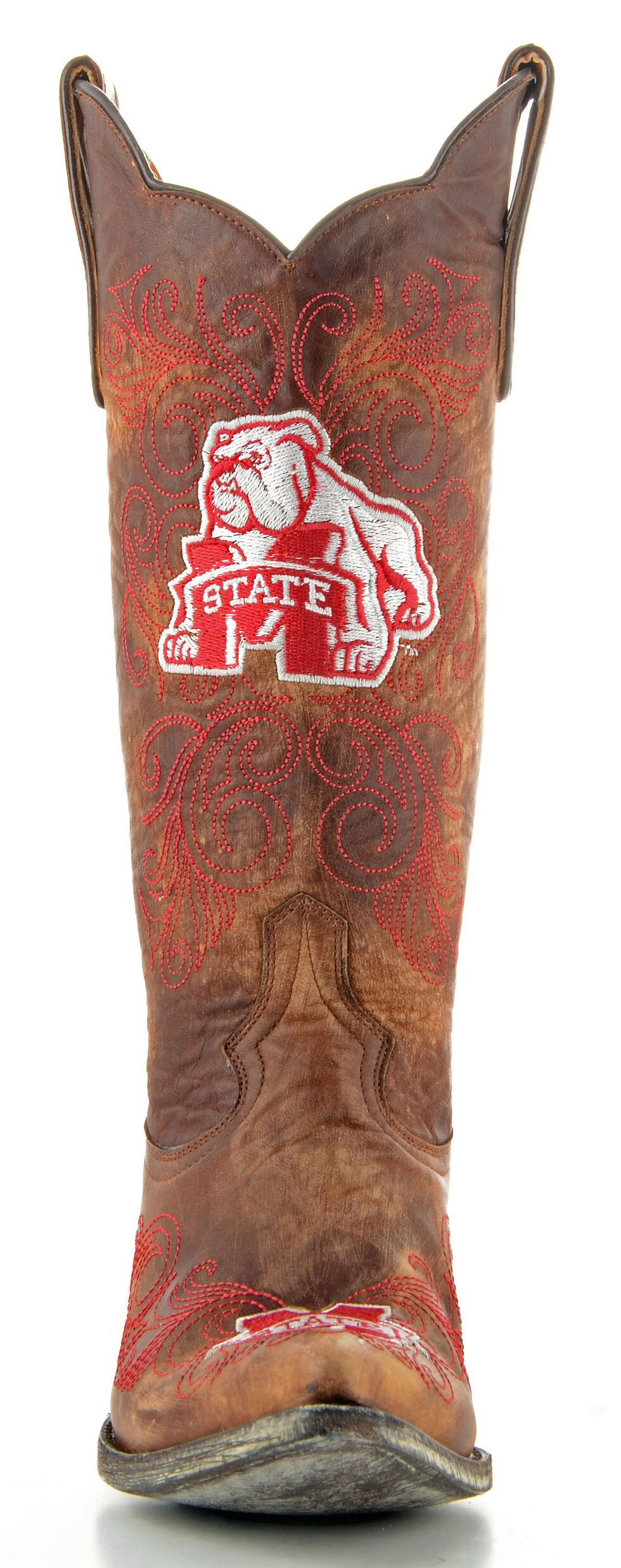 Gameday Mississippi State University Cowgirl Boots - Pointed Toe, Brass, hi-res