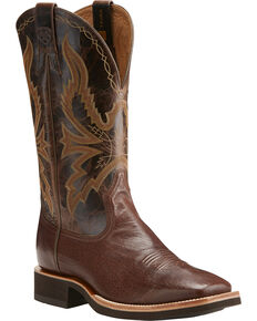 Ariat Men's Quantum Brander Crepe Cowboy Boots - Square Toe, Dark Brown, hi-res