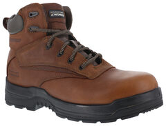"Rockport More Energy Deer Tan 6"" Lace-Up Work Boots - Composition Toe, Brown, hi-res"