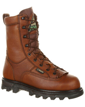 Rocky Men's BearClaw 3D Waterproof Outdoor Boots - Round Toe, Brown, hi-res