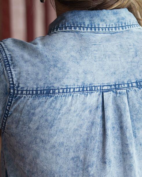 Ryan Michael Women's Indigo Short Sleeve Dress , Indigo, hi-res