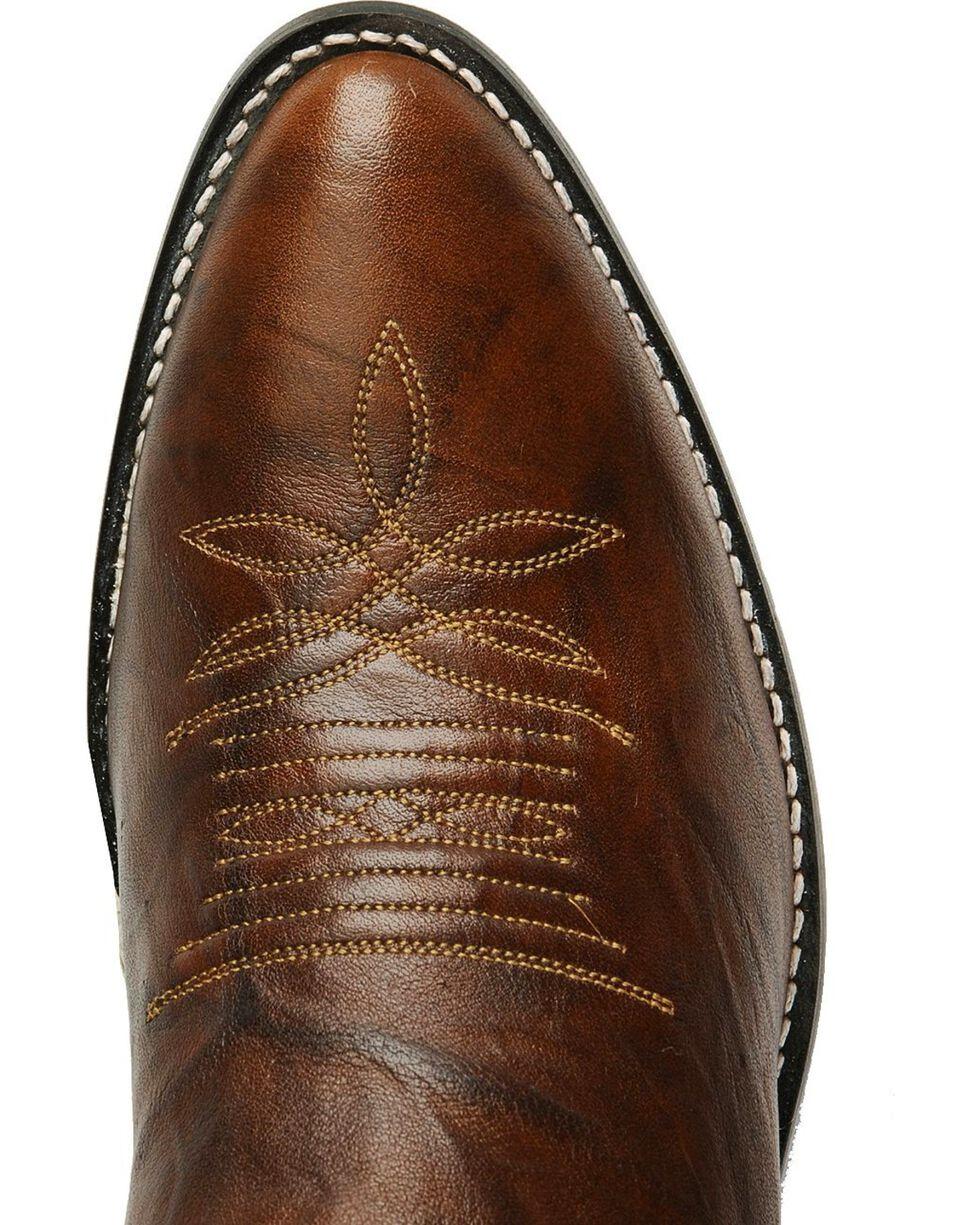 Justin Marbled Deerlite Cowboy Boots - Medium Toe, Chestnut, hi-res