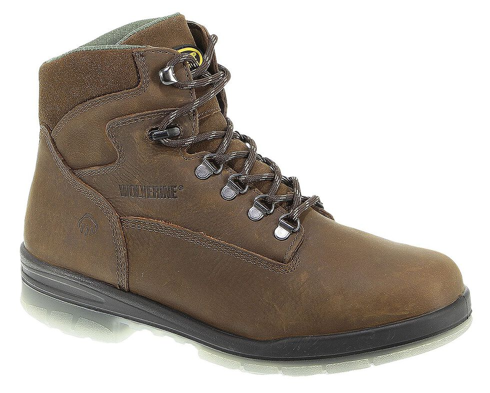 "Wolverine Durashocks 6"" Waterproof Insulated Work Boots, Stone, hi-res"