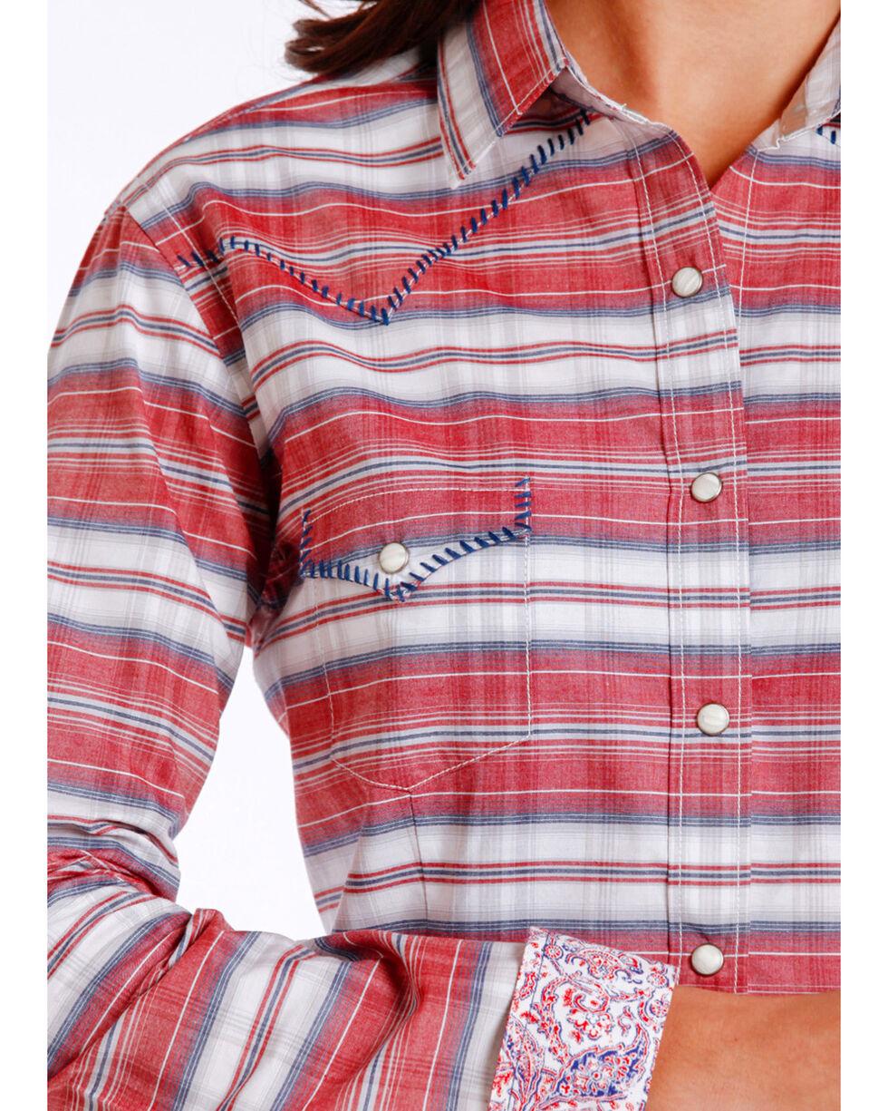 Panhandle Women's Red Horizontal Stripe Shirt , Red, hi-res