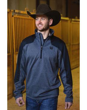 Cinch Men's Navy Tech Fleece 1/2 Zip Pullover , Navy, hi-res