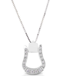 Kelly Herd Women's Western Oxbow Necklace , Silver, hi-res