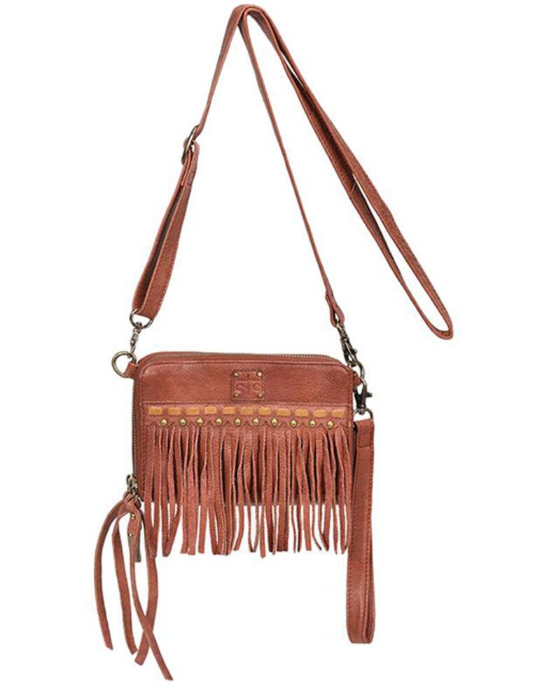 STS Ranchwear Women's Fringe Package Crossbody Bag, Red, hi-res
