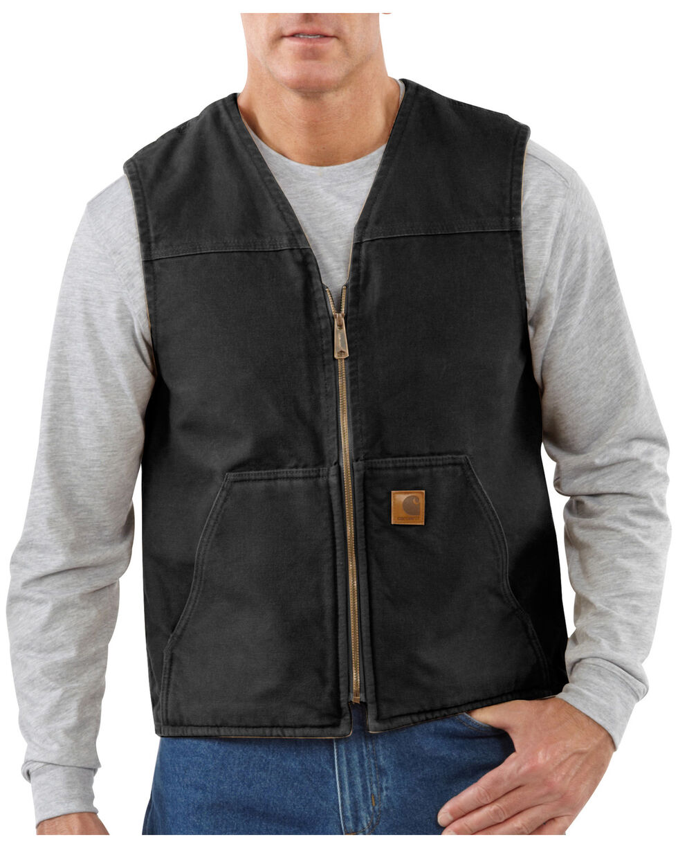 Carhartt Rugged Work Vest - Big & Tall, Black, hi-res