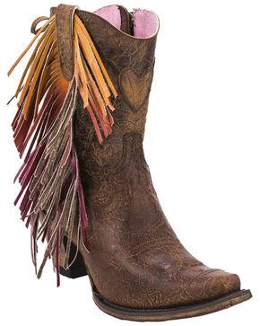 Junk Gypsy by Lane Cream Spirit Animal Boots - Snip Toe , Brown, hi-res