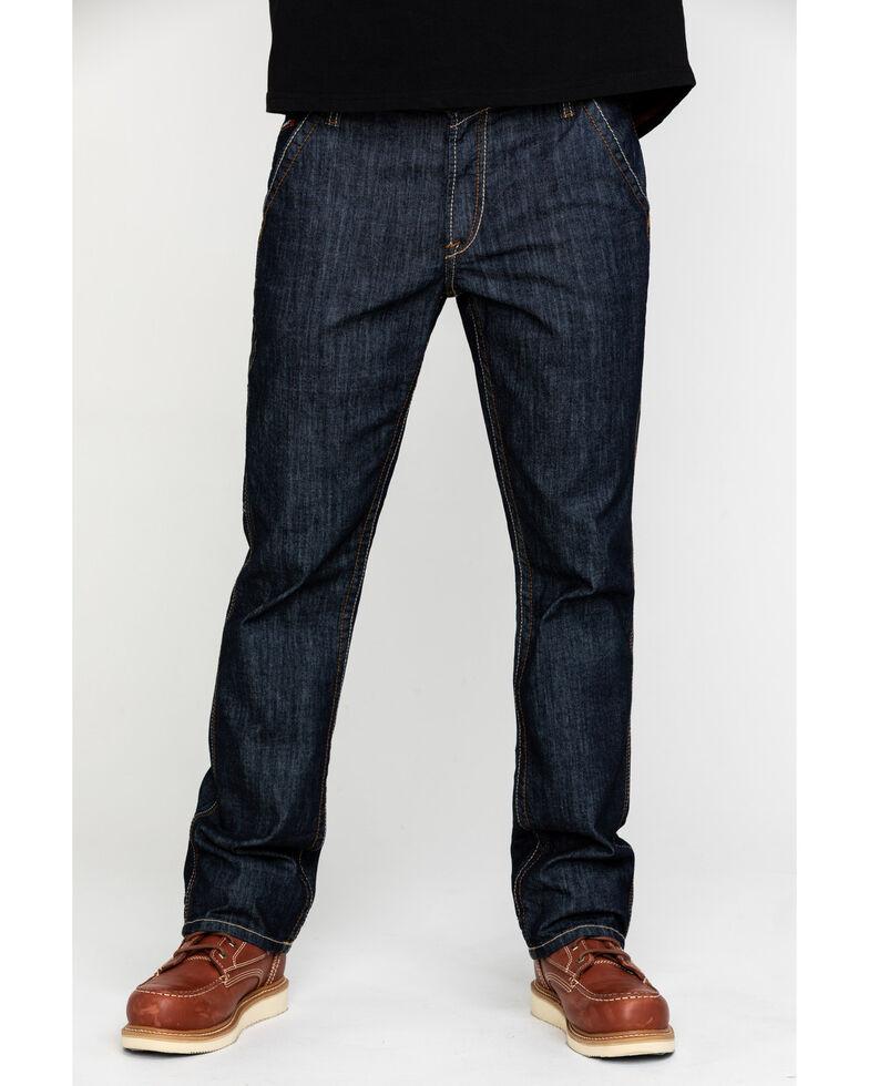 Ariat Men's FR M4 Workhorse Duralight Low Stretch Straight Work Jeans , Indigo, hi-res