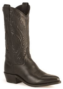 Abilene Cowhide Cowgirl Boots - Pointed Toe, Black, hi-res