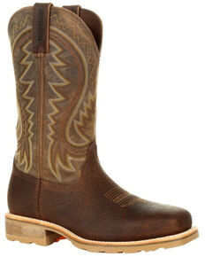 Durango Men's Maverick Pro Western Work Boots - Steel Toe, Brown, hi-res