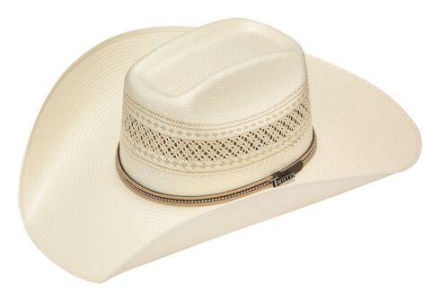 Twister 10X Shantung Colton Beaded Band Straw Cowboy Hat, Ivory, hi-res
