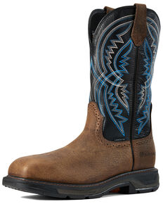 Ariat Men's Brown Coil Workhog Western Work Boots - Composite Toe, Brown, hi-res