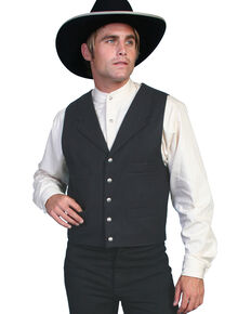 Wahmaker by Scully Wool Vest, Black, hi-res