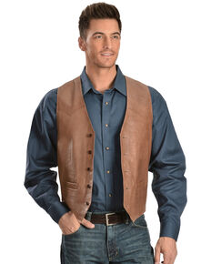 Scully Lamb Leather Vest, Antique Brown, hi-res
