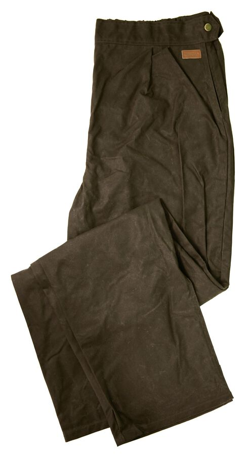 Outback Trading Co. Oilskin Cotton Pants, Brown, hi-res