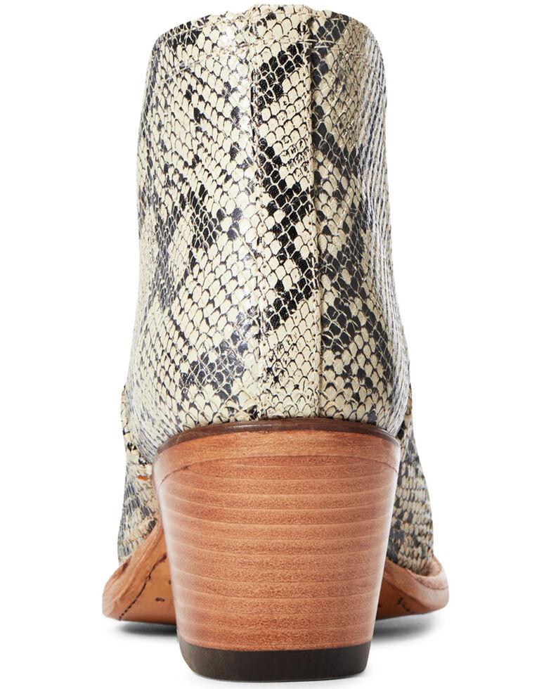 Ariat Women's Dixon Snake Print Fashion Booties - Snip Toe, Black, hi-res