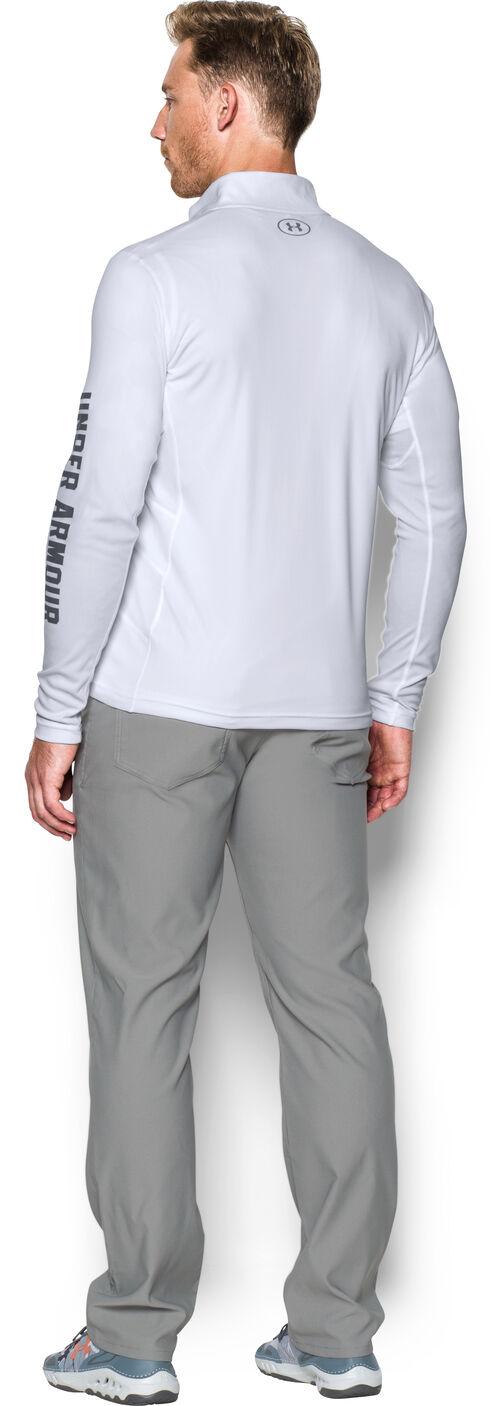 Under Armour Men's Fish Hunter 1/4 Zip Shirt, White, hi-res