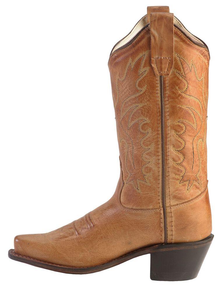 Old West Boys' Tan Canyon Cowboy Boots - Snip Toe, Tan, hi-res