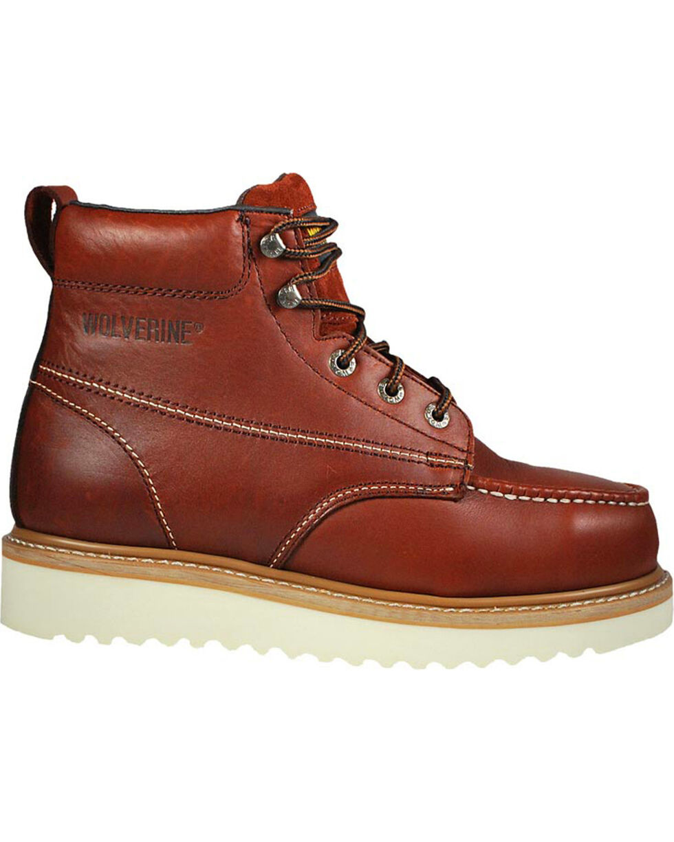 Wolverine Men's T-Bone Work Boots - Steel Toe, Rust Copper, hi-res