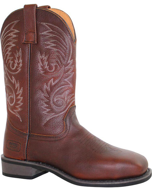 Ad Tec Men's Western Boots - Square Toe, Brown, hi-res